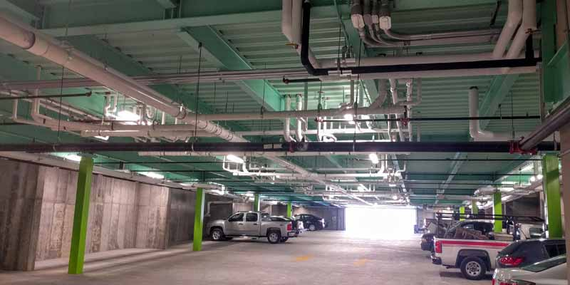 Brand new underground parking garage