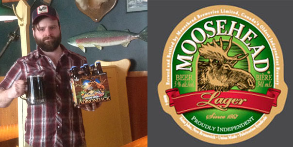 moose wizz beer case and moosehead lager logo