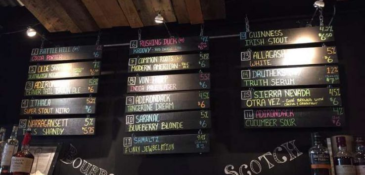Adirondack Brewery Beer List