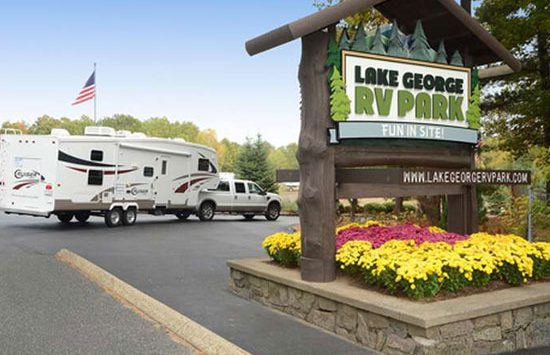 sign at lake george rv park