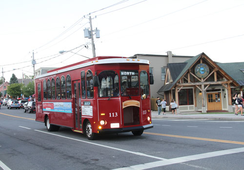 trolley in lake george village