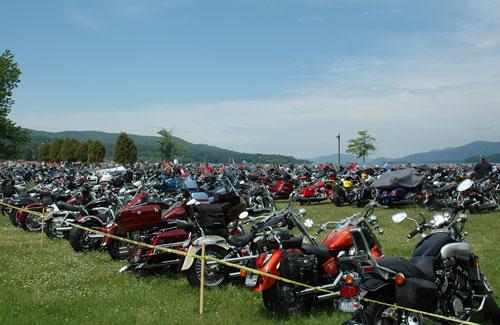 motorcycles at americade