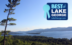 scenic lake george photo with best of logo