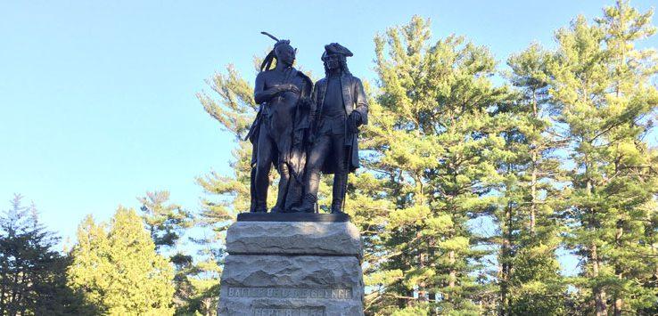 battlefield park statue in lake george