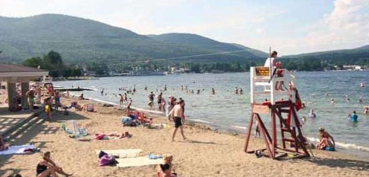 Snapshot of a busy million dollar beach