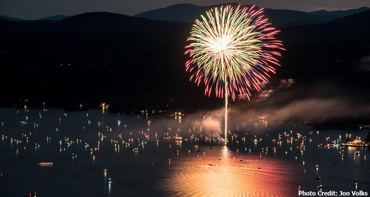 bolton landing fireworks display from water