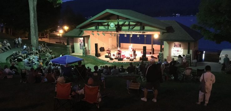concert in the evening at shepard park