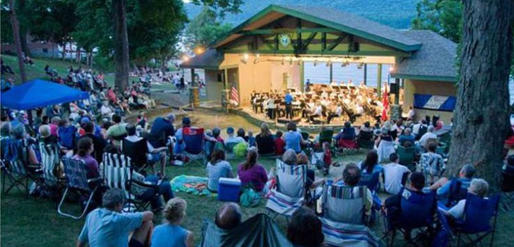 lake george community band in shepard park