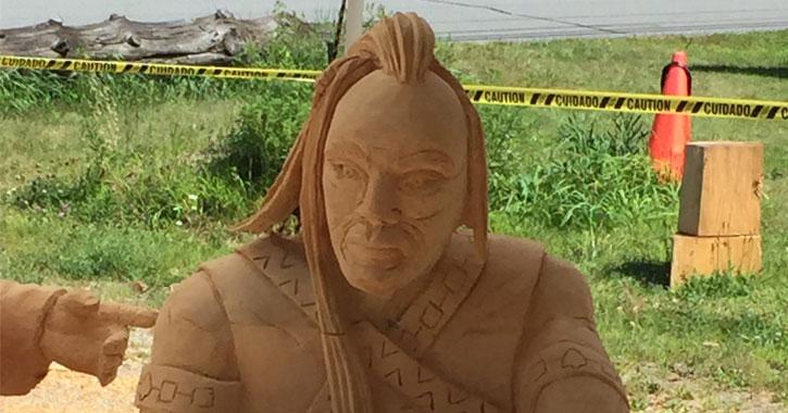 a sculpture of an Indian