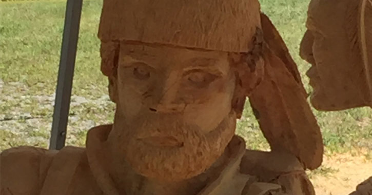 sculpture of a frontiersman