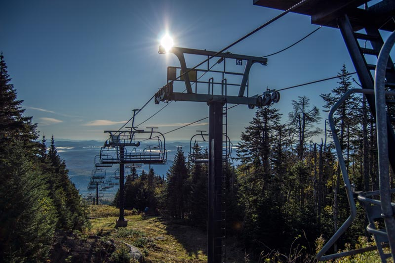 The Adirondack II high speed chair lift at Gore mountain
