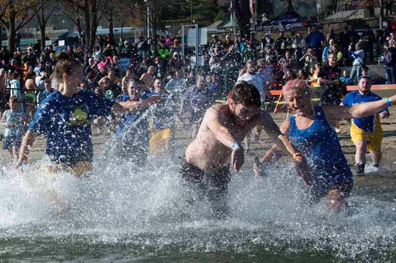People plunging into Lake George to benefit Special Olympics