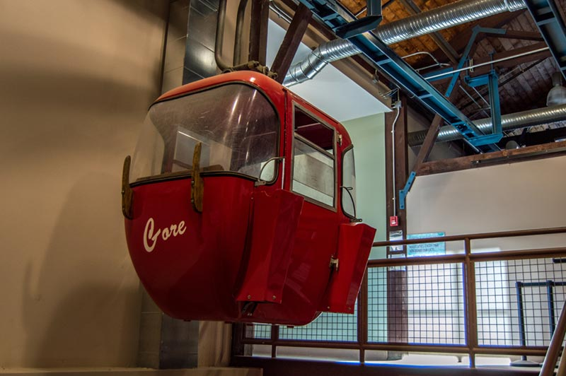 Iconic red gondola from Gore's original lift