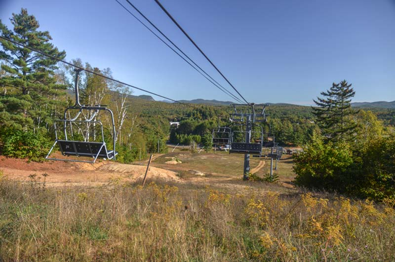 A view down the Village Chair lift at North Creek Ski Bowl
