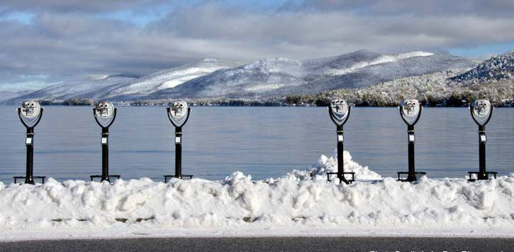 winter binoculars in lake george