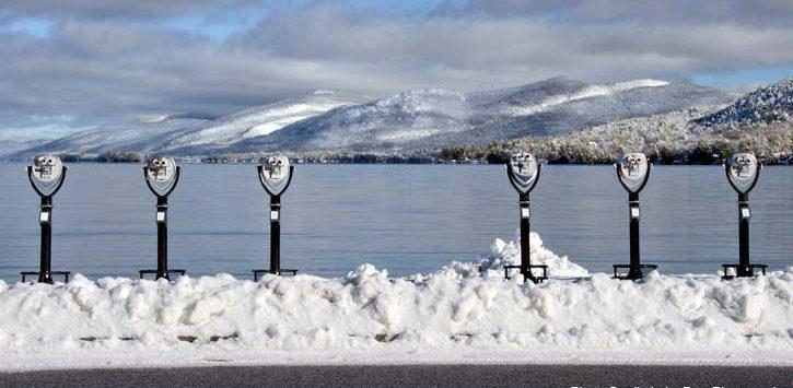 winter binoculars in lake george