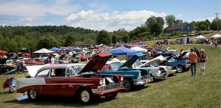 cars at ticonderoga car show
