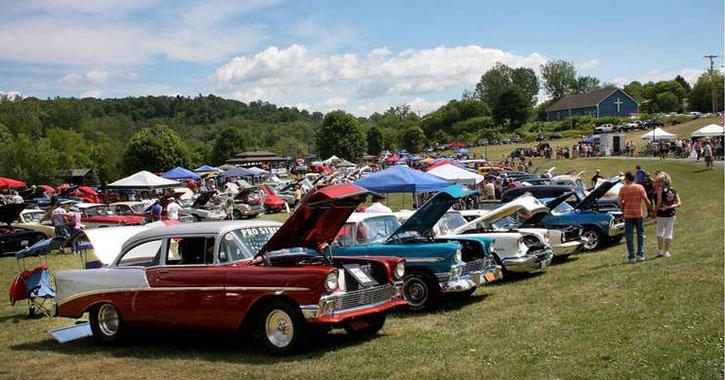 cars at ticonderoga car show