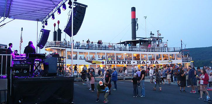 music fest at boat dock