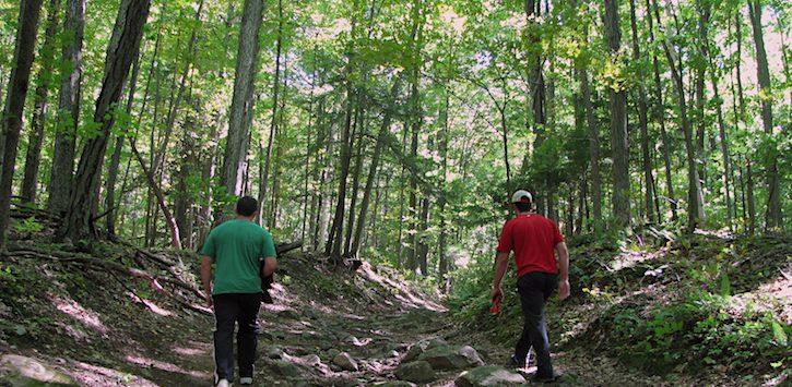 hiking in ADKs
