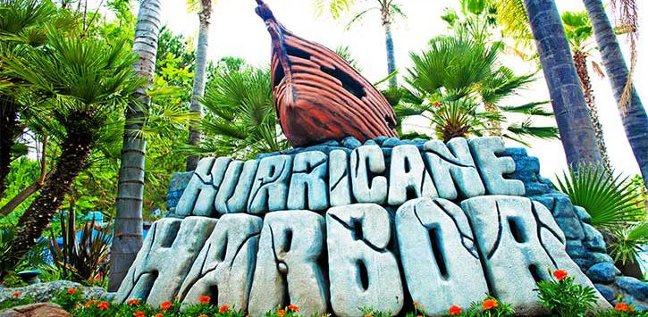 hurricane harbor sign