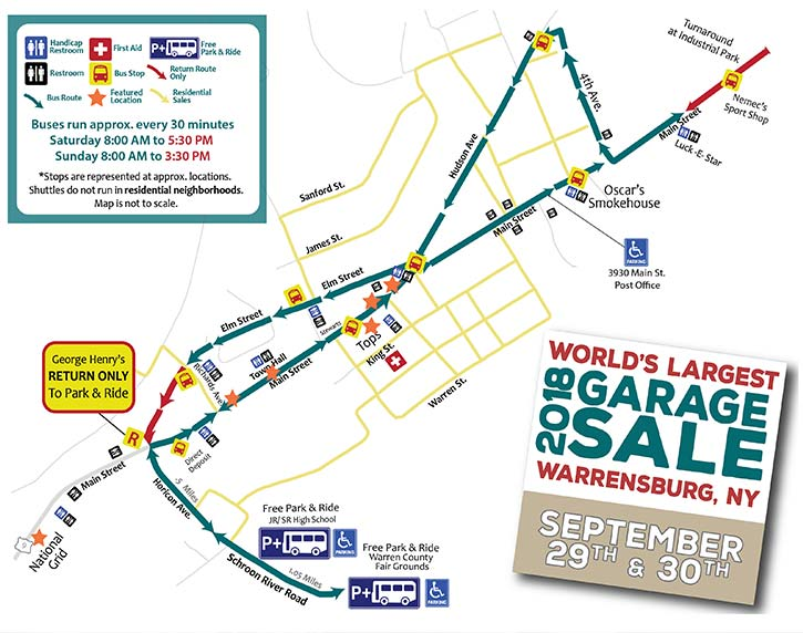 World's Largest Garage Sale Returns to Warrensburg This Weekend on insurance maps, gettysburg maps, department store maps, general maps, seattle washington coast maps, interactive sales maps, employment maps, livestock maps, mafia maps, fishing maps, shopping mall maps,