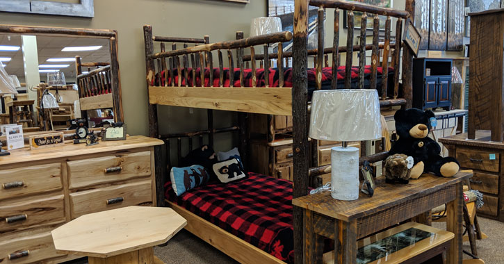 Now Open Big Moose Furniture Company Rustic Adirondack Themed