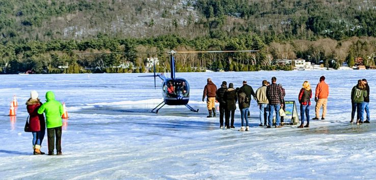 helicopter on ice