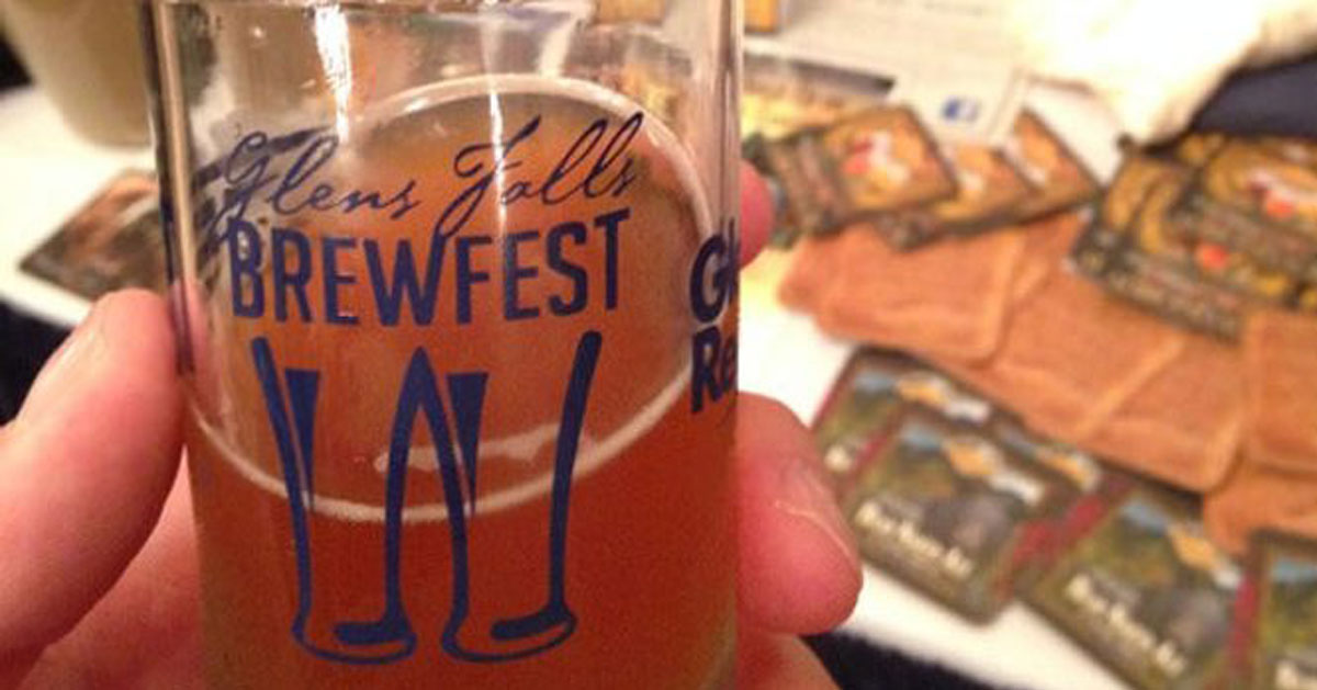 Glens Falls Brewfest glass