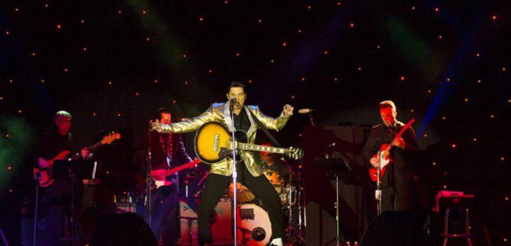 Elvis performs