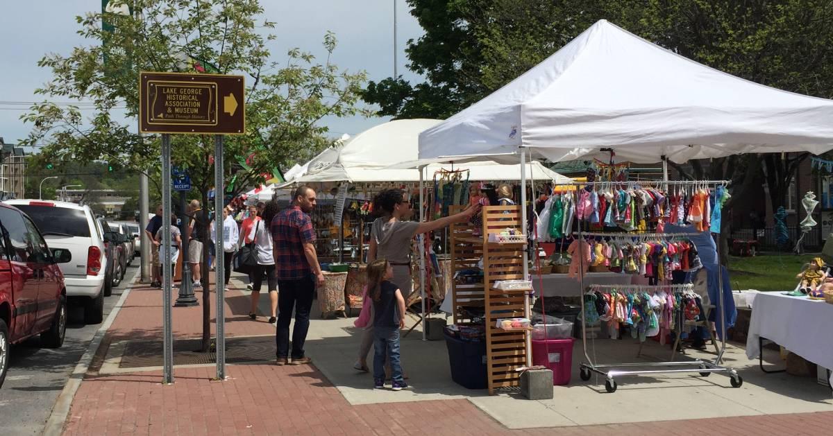 craft fair on the street