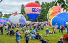 balloon launch with crowd