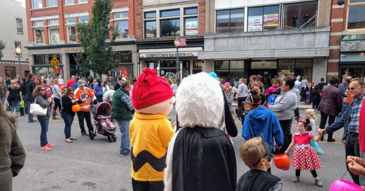 trick or treating in downtown glens falls during boo 2 you