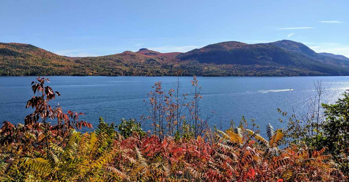 lake george in the fall