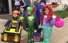 kids trick-or-treating in ticonderoga