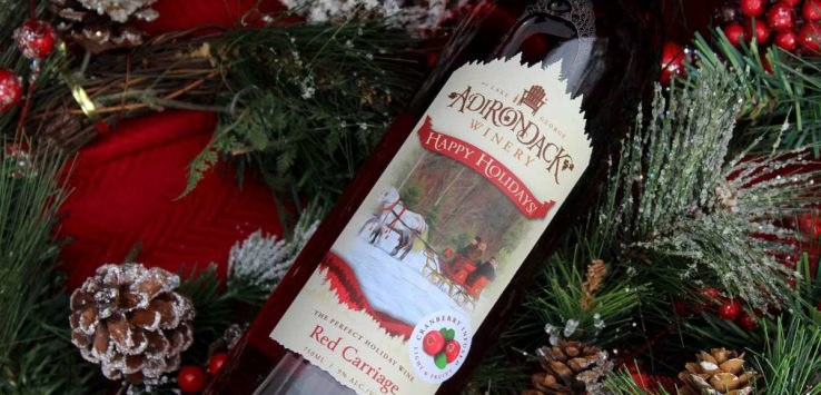 a bottle of red carriage wine from adirondack winery