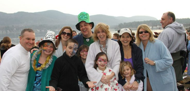 participants at the lake george polar plunge