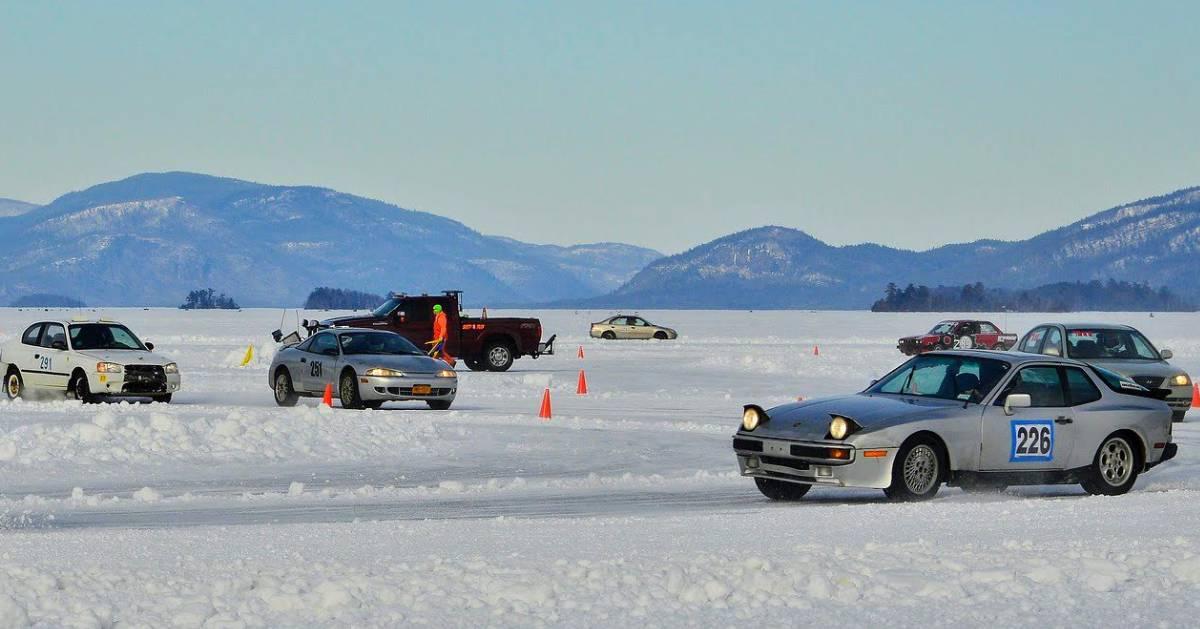 cars on ice