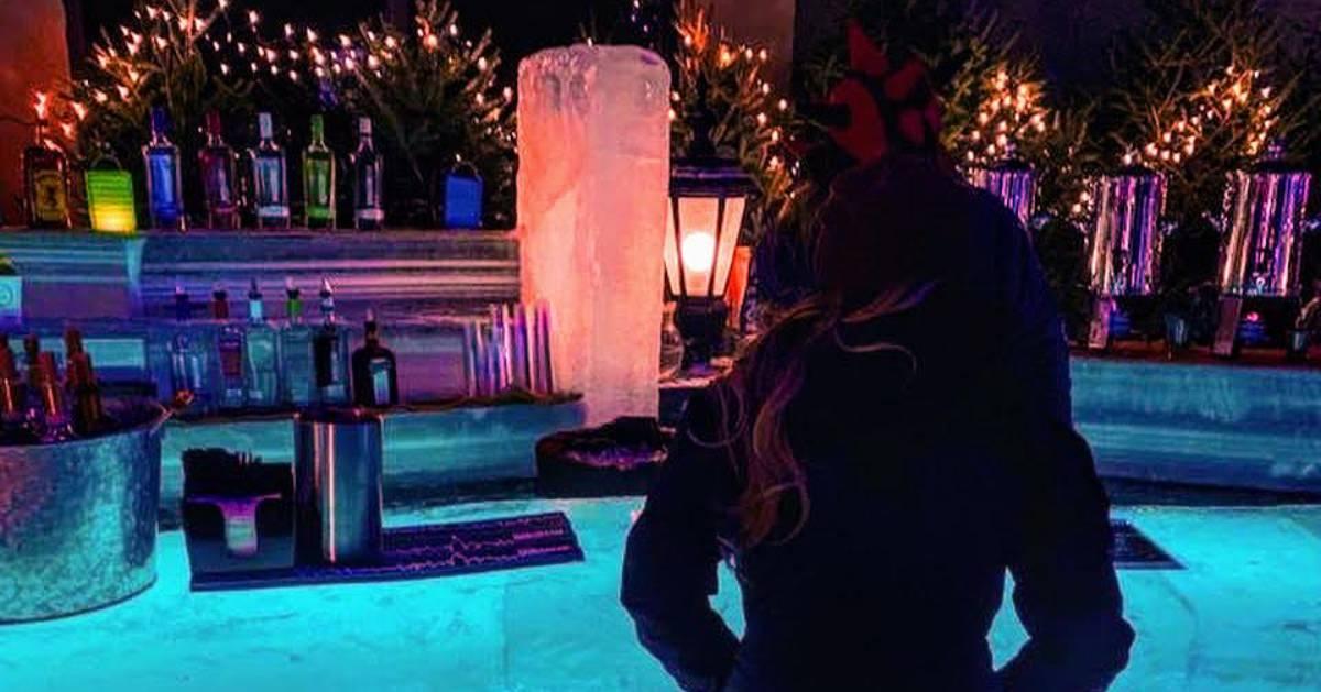 girl at ice bar