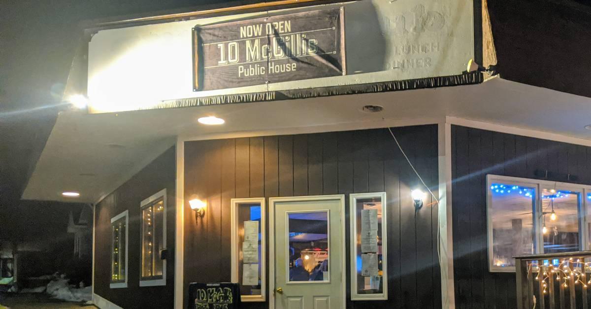 outside of 10 McGillis restaurant