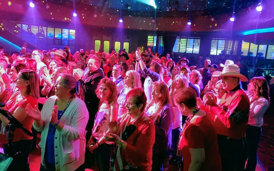 crowd of people dancing