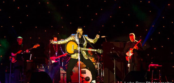 Elvis tribute artist performs