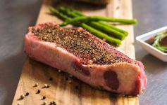 steak with spices