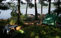 island campsite on lake george