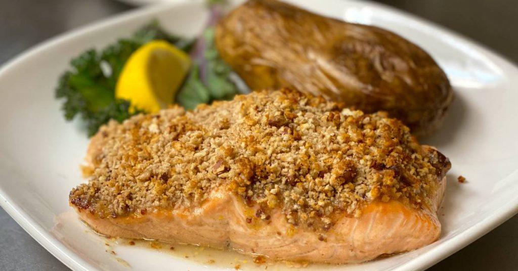maple salmon dish