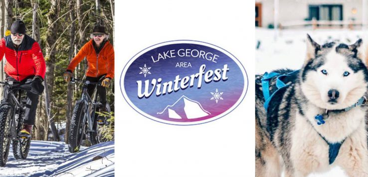 Winterfest with fat tire biking and dog sled dogs