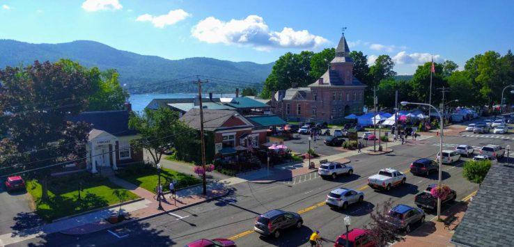 aerial view of Lake George Street
