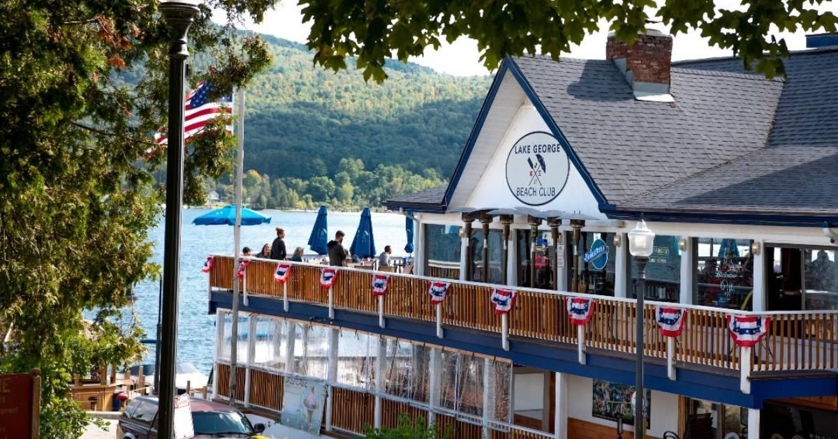 outside of the Lake George Beach Club