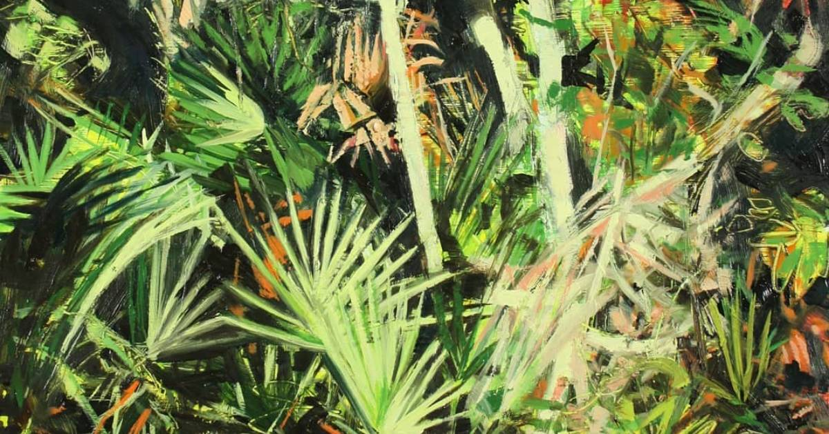 painting of plants
