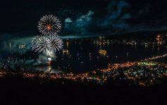 fireworks over Lake George